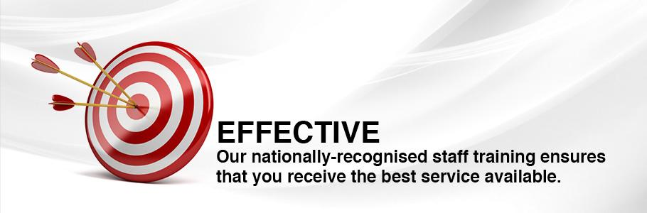 Our nationally-recognised staff training ensures that you receive the best service available.
