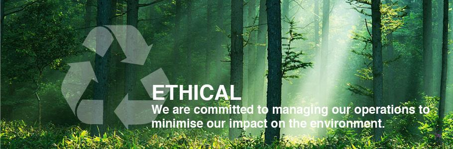 We are committed to managing our operations to minimise our impact on the enviroment